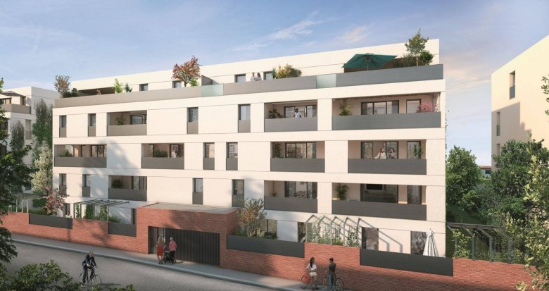 Achat / Vente programme immobilier neuf Toulouse proche de la coulée verte des Amidonniers (31000) - Réf. 6250